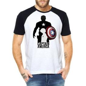 Camisetas Masculinas Capitão América Marvel Filmes Atacado 5903274b89124