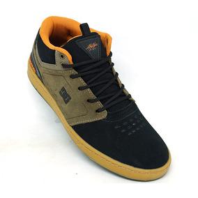Tênis Dc Shoes Cole Signature Mid Couro Preto E Laranja
