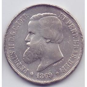Moeda 2000 Réis 1869 Prata Do Império Lote7