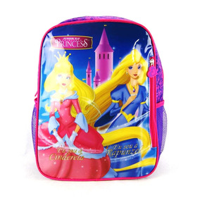 Mochila Cinderela E Rapunzel Princesa Junior Elf Is3100pr