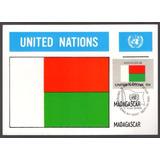 1980 - 10 Máximos Postais Tema Nações Unidas - Bandeiras