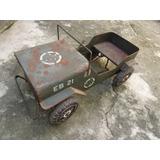 Jeep Pedal Car Exército Lata Bandeirante 100% Original