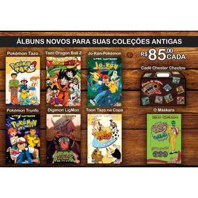 Álbum Tazos E Cards Pokémon, Digimon, Dbz, Máskara E Cheetos