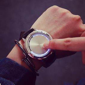 Reloj Led Hombre Minimalista Caballero Touch Metal Creativo