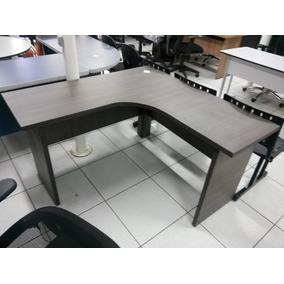 Mesa Ele Estação De Trabalho Borda 30mm Mdf Branca Ou Cinza