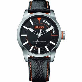 211bd77b978b Reloj Hugo Boss 1513214 Negro Y Plateado Correa De Piel