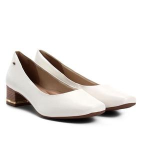 4a29fa655 Sapato Azul De Salto Quadrado Scarpins Dakota - Scarpins para ...