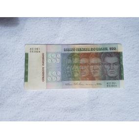 Nota Antiga De 500 Cruzeiros Raça 1980