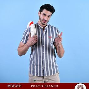 Playera Sport Portoblanco Manga Corta Rayas Mao Mc-811