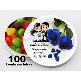 100 Latinhas Lembrancinhas +100 Rótulos Personalizados