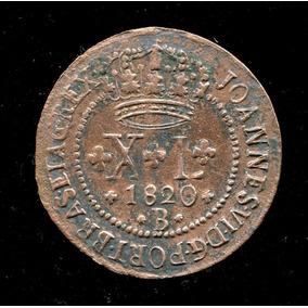 Moeda Brasil Reino Un. 20 Réis Rara 1816 Frete Grátis L.1012