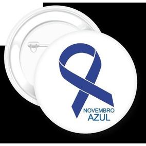 Botons Novembro Azul - 20 Unidades 2,5 Cm - Câncer De Prosta