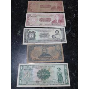Coleção Cédulas Notas Raras - 1, 5 E 10 Guaranies