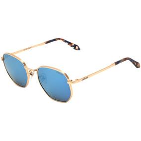2f72908366042 Colcci C0105 - Óculos De Sol Dourado Brilho  Azul Espelhado