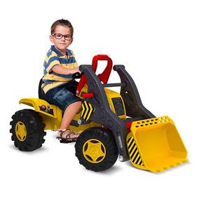 Mini Veículo Com Pedais Para Crianças Pá Escavadeira 409