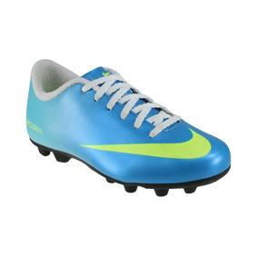 ab4dd0f2a7e5a Chuteira Nike Mercurial Campo Barata - Chuteiras Azul celeste no ...