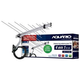 Antena Tv Digital Hdtv Externa 4 Em 1 Aquário - Lvu-11plus