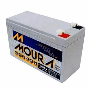 Bateria Moura Vrla Selada 12v 7ah Alarme / Nobreak