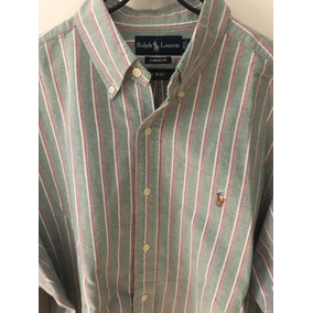 3558eb1b18 Camisa Polo Ralph Lauren Original A Rayas Roja Verde Blanca