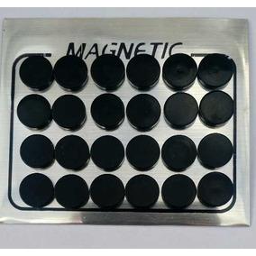 Brinco De Imã Magnético 10mm 24 Unid Alargador Falso Preto