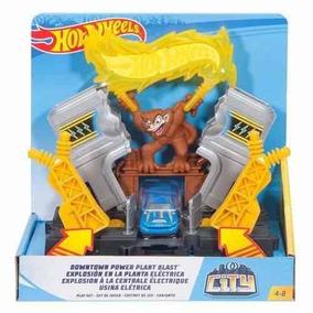 Pista Hot Wheels Usina Eletrica City Mattel - Fmy98