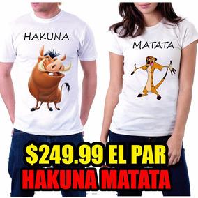 Pareja Playeras Matata Hakuna Perzonalizadas¡¡¡ Amigos dUvqrU