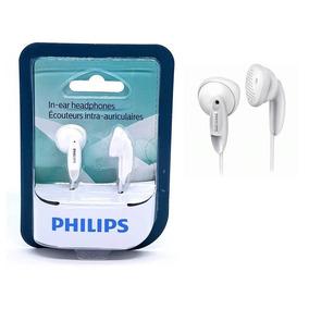 Fone De Ouvido Philips Original P/ Celular Mp3 Mp4 Branco
