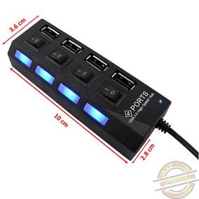 Hub Usb 2.0 4 Portas Pendrive P/ Notebook Mouse Pendrive