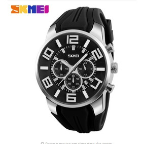 Relógio Masculino Skmei Analógico Preto Original 9128