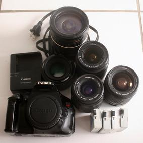 Canon Eos T3i (600d) + 5 Lentes [defeito!]
