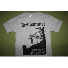 Gusanobass Playera Rock Metal Hellhammer Black Death Med