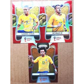 3 Card Prizm Refractor Vermelho Série #/149 Copa Mundo 2018