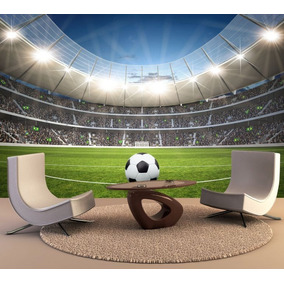 Papel De Parede Esporte Futebol Gol Bola Estádio Jogo Gg133 faa4d872e2541