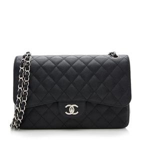 Bolsa Chanel Classic Flap Jumbo Caviar- Pronta Entrega