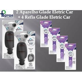 2 Aparelhos Glade Eletric Car + 4 Unid Refil Lavanda