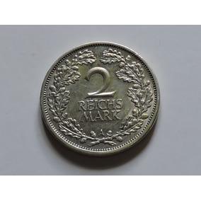 Alemanha Weimar 2 R. Mark 1926a 10 Gr Prata 500