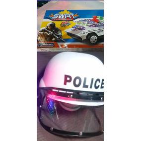 Carro Carrinho De Polícia Militar + Capacete -