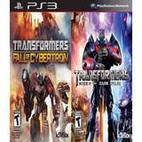 Transformers Fall Cybertron + The Dark Spark Ps3 Digital Gcp