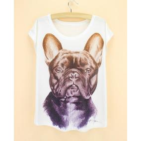 Camiseta Com Foto Do Bulldog Ingles - Camisetas Manga Curta para ... 8bcb9837ddc0a