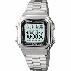 c7c544ea345 Relogio Casio A178 Unisex Retrô Vintage Prata A178 Db Aw - Relógios ...