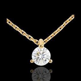 Ponto De Luz De Ouro 18k/750 Com Diamante De 25 Pt Pi37vj