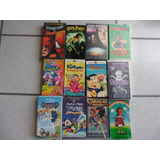 12 Películas Vhs Infantiles Disney Picapiedra Gargaolas