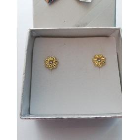 Broquel Oro 10k Flor