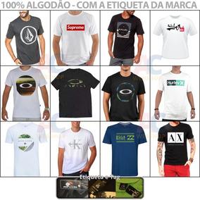 Kit 08 Camisetas Camisas Masculinas Baratas Marcas Famosas