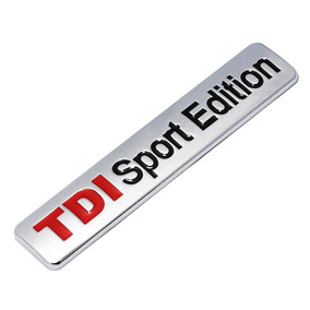 Emblema Adesivo Tdi Sport Edition Inox Vw Amarok Golf Jetta