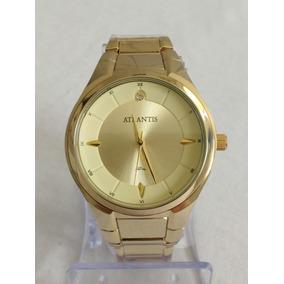Relógio Atlantis G3447 Dourado Feminino - Original