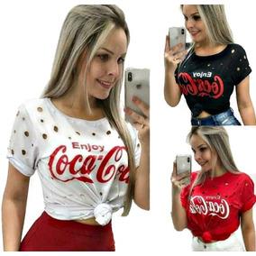 56492f2109 T Shirt Destroyed - Camisetas e Blusas Manga Curta para Feminino no ...