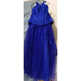 Vestido Dos Piezas Para Quinceañera Color Azul Rey Nuevo.