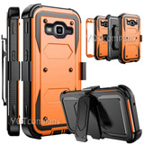 For Samsung Galaxy J3 Emerge - Orange + Clip - Caso De -9022