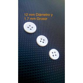 Botón Concha Nácar 12mm 4 Orificios (lote144pz) _cfkbtnbla18